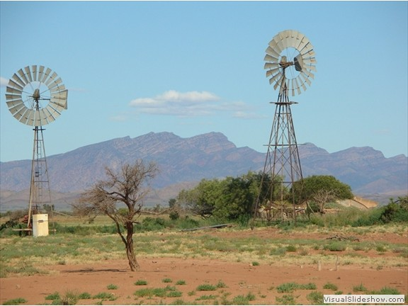 Merna Mora Station windmills